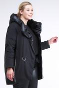 Оптом Куртка зимняя женская молодежная батал черного цвета 90-911_701Ch в Нижнем Новгороде, фото 3