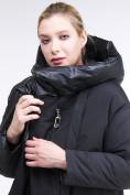 Оптом Куртка зимняя женская молодежная батал черного цвета 90-911_701Ch в Нижнем Новгороде, фото 7