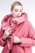 Оптом Куртка зимняя женская молодежная батал персикового цвета 90-911_75P в Казани, фото 7