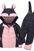 Оптом Горнолыжный костюм детский Valianly черного цвета 9002Ch
