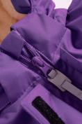 Оптом Горнолыжный костюм Valianly детский темно-фиолетового цвета 9004TF, фото 9