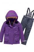 Оптом Горнолыжный костюм Valianly детский темно-фиолетового цвета 9004TF