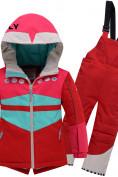 Оптом Горнолыжный костюм детский Valianly красного цвета 9006Kr