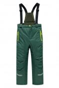 Оптом Горнолыжный костюм Valianly детский темно-зеленого цвета 90071TZ в Екатеринбурге, фото 4