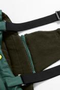 Оптом Горнолыжный костюм Valianly детский темно-зеленого цвета 90071TZ в Екатеринбурге, фото 13