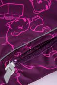 Оптом Горнолыжный костюм Valianly детский малинового цвета 9012M в Екатеринбурге, фото 12