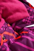 Оптом Горнолыжный костюм Valianly детский фиолетового цвета 9014F в Екатеринбурге, фото 8