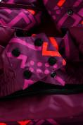Оптом Горнолыжный костюм Valianly детский фиолетового цвета 9014F в Екатеринбурге, фото 12