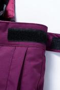 Оптом Горнолыжный костюм Valianly детский фиолетового цвета 9014F в Екатеринбурге, фото 15