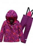 Оптом Горнолыжный костюм Valianly детский фиолетового цвета 9014F в Екатеринбурге