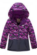 Оптом Горнолыжный костюм Valianly для девочки темно-фиолетового цвета 9016TF в Екатеринбурге, фото 2