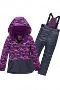Оптом Горнолыжный костюм Valianly для девочки темно-фиолетового цвета 9016TF в Екатеринбурге