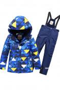 Оптом Горнолыжный костюм Valianly для мальчика синего цвета 9017S в Екатеринбурге