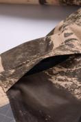 Оптом Горнолыжный костюм для мальчика Valianly коричневого цвета 9021K, фото 14
