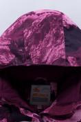 Оптом Горнолыжный костюм для девочки Valianly малинового цвета 9022M, фото 9