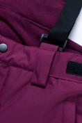 Оптом Горнолыжный костюм для девочки Valianly малинового цвета 9022M, фото 17