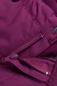 Оптом Горнолыжный костюм для девочки Valianly малинового цвета 9022M, фото 18