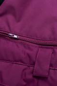 Оптом Горнолыжный костюм для девочки Valianly малинового цвета 9022M, фото 22