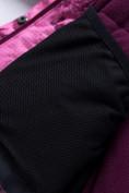 Оптом Горнолыжный костюм для девочки Valianly малинового цвета 9022M, фото 13