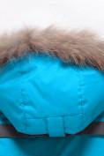 Оптом Парка зимняя Valianly для девочки голубого цвета 9034Gl в Екатеринбурге, фото 5