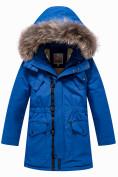 Оптом Парка зимняя Valianly для мальчика синего цвета 9037S