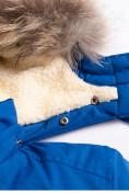 Оптом Парка зимняя Valianly для мальчика синего цвета 9037S, фото 5