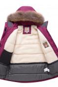 Оптом Парка зимняя для девочки Valianly малинового цвета 9038M, фото 3