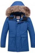 Оптом Парка зимняя для мальчика Valianly синего цвета 9041S