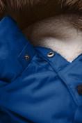 Оптом Парка зимняя для мальчика Valianly синего цвета 9041S, фото 13