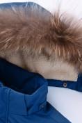 Оптом Парка зимняя для мальчика Valianly синего цвета 9041S, фото 8