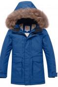 Оптом Парка зимняя для мальчика Valianly синего цвета 9041S, фото 2