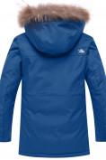 Оптом Парка зимняя для мальчика Valianly синего цвета 9041S, фото 3
