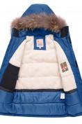 Оптом Парка зимняя для мальчика Valianly синего цвета 9041S, фото 4