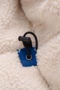 Оптом Парка зимняя для мальчика Valianly синего цвета 9041S, фото 12