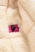 Оптом Парка зимняя Valianly для девочки розового цвета 9042R, фото 7