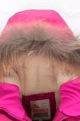 Оптом Парка зимняя Valianly для девочки розового цвета 9042R, фото 4