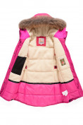 Оптом Парка зимняя Valianly для девочки розового цвета 9042R, фото 3