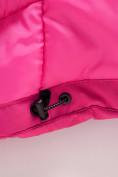 Оптом Парка зимняя Valianly для девочки розового цвета 9042R, фото 9