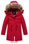 Оптом Парка зимняя Valianly для девочки красного цвета 9046Kr в Екатеринбурге