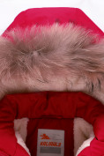 Оптом Парка зимняя Valianly для девочки красного цвета 9046Kr в Екатеринбурге, фото 4