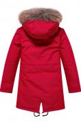 Оптом Парка зимняя Valianly для девочки красного цвета 9046Kr в Екатеринбурге, фото 2
