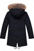 Оптом Парка зимняя Valianly для девочки черного цвета 9046Ch в Екатеринбурге, фото 2