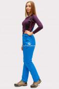 Оптом Брюки горнолыжные женские синего цвета 905S в Казани, фото 2