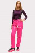 Оптом Брюки горнолыжные женские розового цвета 905R в  Красноярске