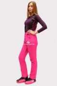 Оптом Брюки горнолыжные женские розового цвета 905R в  Красноярске, фото 2