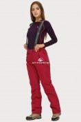 Оптом Брюки горнолыжные женские бордового цвета 906Bo, фото 3