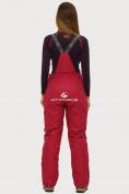 Оптом Брюки горнолыжные женские бордового цвета 906Bo, фото 2