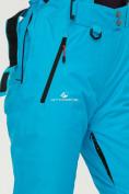 Оптом Брюки горнолыжные женские голубого цвета 906Gl в Екатеринбурге, фото 7