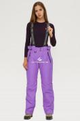 Оптом Брюки горнолыжные женские фиолетового цвета 906F в Екатеринбурге