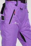 Оптом Брюки горнолыжные женские фиолетового цвета 906F, фото 7